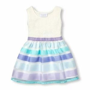 TCP Baby/Toddler Girls Lace Bodice Striped Dress